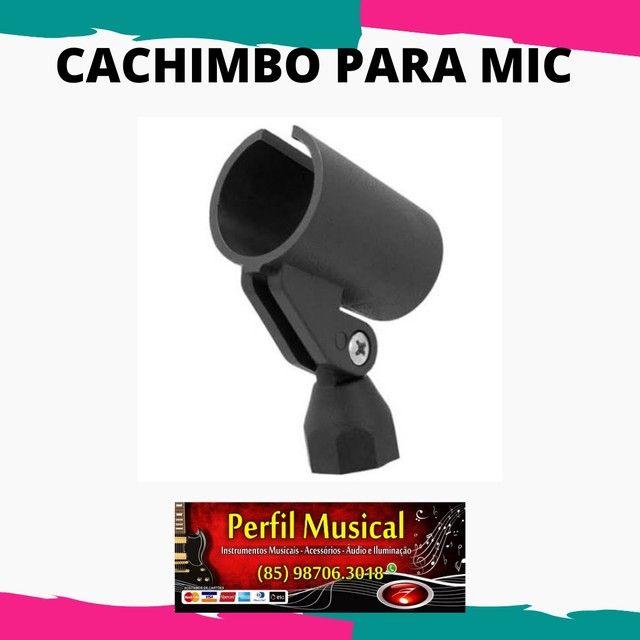 Cachimbo para microfone com e sem fio