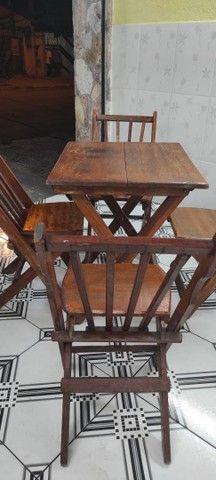 Mesa madeira c/4cadeiras - Foto 2