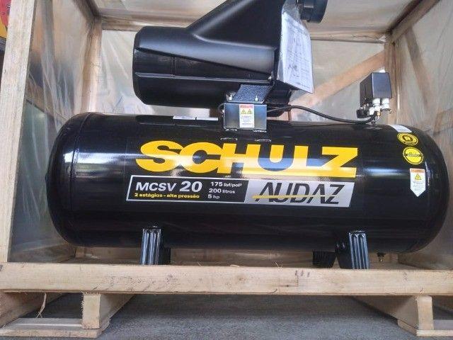 Compressor De Ar Schulz Audaz MCSV 20 Pés 200 Litros 5CV - Trifásico 220/380V - Foto 5