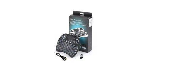 Controle Para Smart Tv Pc Notebook Teclado Bluetooth De Led - Foto 3