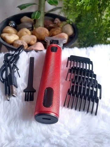 Máquina elétrica usb profissional para corte de Barba/Cabelo/Bigode - Foto 2
