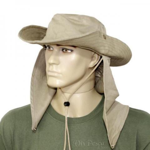 Chapéu de Pano com protetor Camuflado ou Cores Lisas - Foto 2