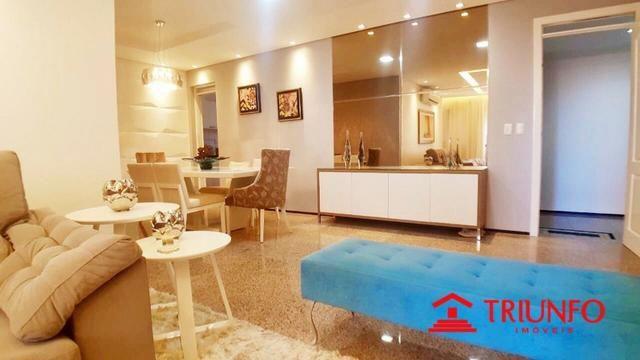 (HN) Apartamento de 137m² no Papicu - Todo Projetado - Ventilado - 3 quartos - Dce -2 vgs
