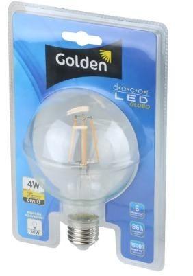 Lampada Led 4w Filamento Globo