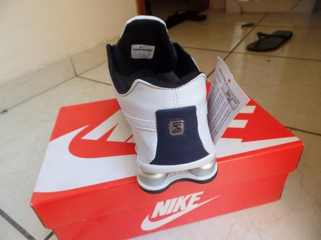 brand new dc455 720a8 ... Tênis Nike Shox Deliver Azul Marinho E Branco - NOVO ...