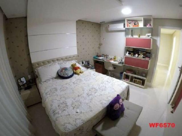 Casa duplex, 3 suítes, 5 vagas, projetada, mobiliada, casa nova, lago Jacarey - Foto 12