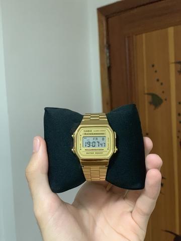 6bce3ffa085 Casio Vintage Dourado Original - Bijouterias