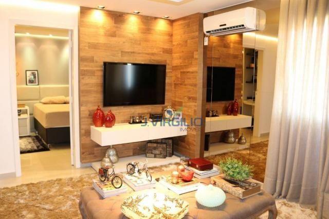 Apartamento com 2 dormitórios à venda, 54 m² por r$ 180.000 - setor dos afonsos - aparecid - Foto 5