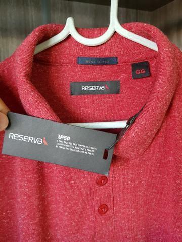 Camisa Polo Reserva (Tam. GG, mas serve G) (Modelagem Slim)