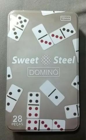 Dominó 28 Pçs 12mm Sweet Steel 1,2cm - Foto 3