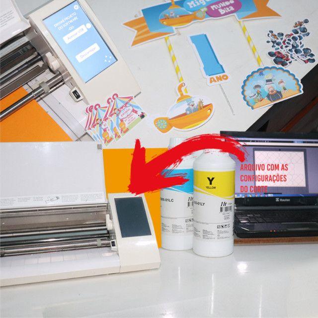 Plotter de recorte Silhouette Cameo 2 usada + 2 bases genéricas novas + 1 agulha genérica - Foto 2