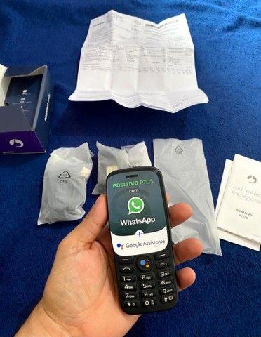 """Celular Positivo P70S 3G KaiOS 2.8"""" - Preto (WhatsApp e Facebook) (Novo com nota fiscal)"""