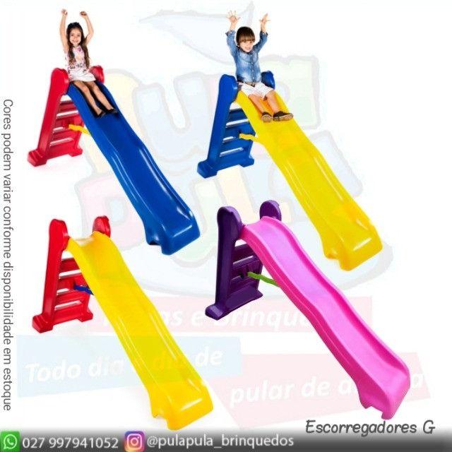 Promoção - Escorregadores coloridos para sua área Kids - Foto 2