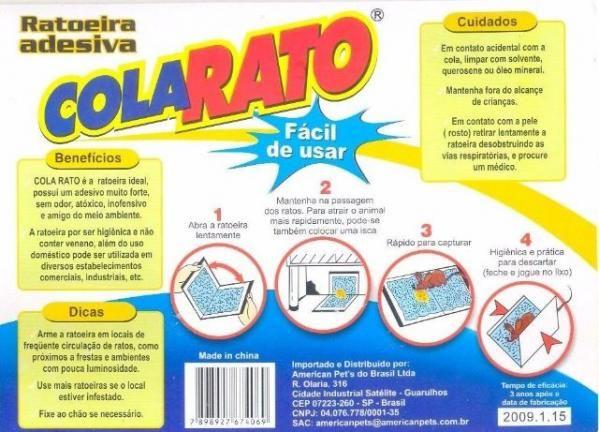 Cola Rato - Ratoeira Adesiva - 1 Cartela - Foto 2