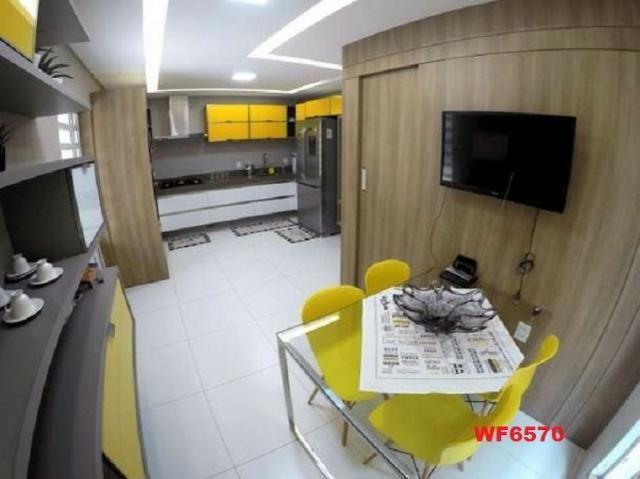 Casa duplex, 3 suítes, 5 vagas, projetada, mobiliada, casa nova, lago Jacarey - Foto 7