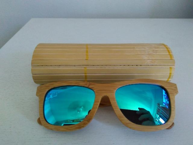 48a4f64af7e98 Óculos de sol estilo bambu lente polarizada - Bijouterias