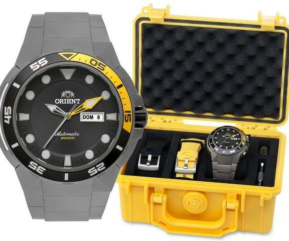 25d39a653d0 Relógio Orient Seatech Titanium - Bijouterias