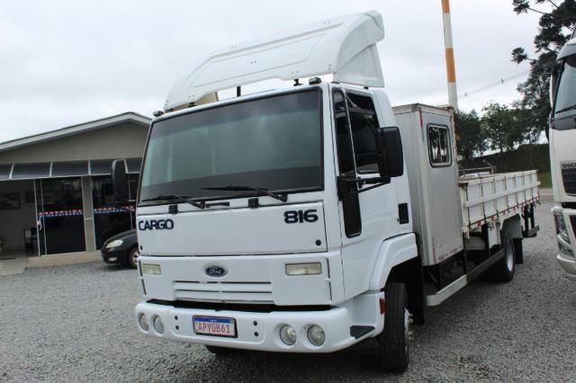 Ford cargo 816 s cabine suplementar e carroceria - Foto 3