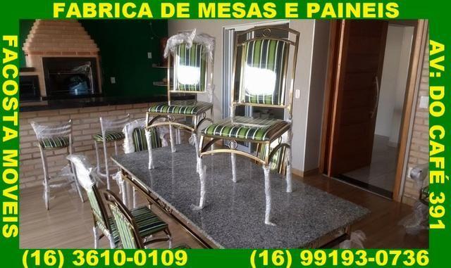 Mesa de jantar com 6 cadeira fabrica facosta moveis somente 10 x 168,00 - Foto 5