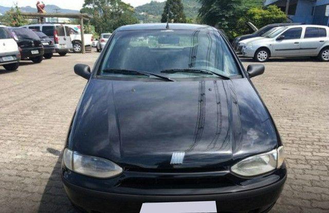Preto Fiat Palio 1998 1.0 MPI EDX 8V GASOLINA 4P MANUAL  - Foto 2