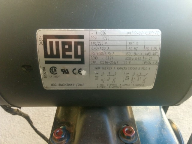 Conjunto motor/redutor - Foto 4