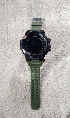 Relógio Smael Sport Militar Verde - Foto 3