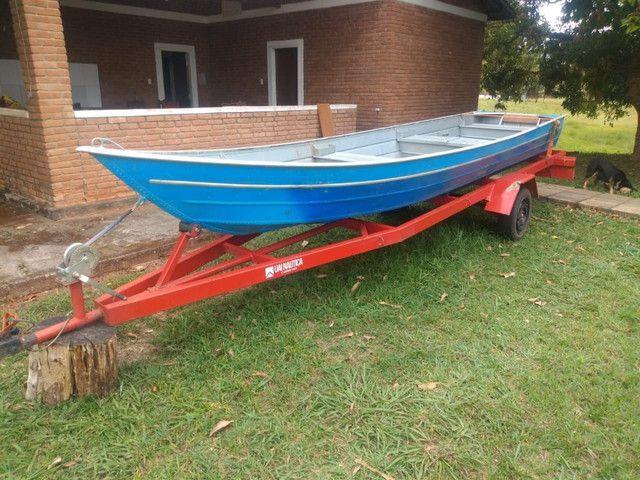Vendo barco alumínio com carreta ok