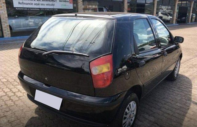 Preto Fiat Palio 1998 1.0 MPI EDX 8V GASOLINA 4P MANUAL  - Foto 3