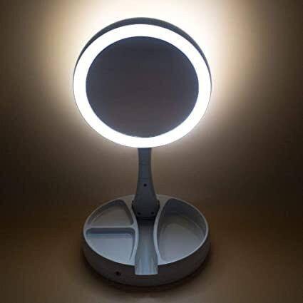 Espelho De Luz De Led Dobrável - Foto 2