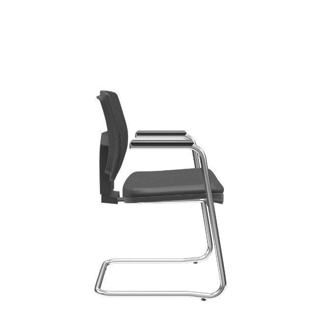 Cadeira Plax base cromada nova presidente - Foto 3