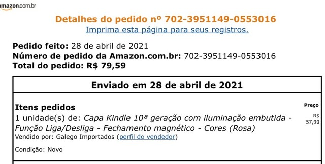 Capa Kindle 10ª geração  - Foto 2