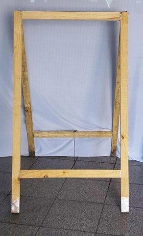 cavalete de madeira (dobrável)