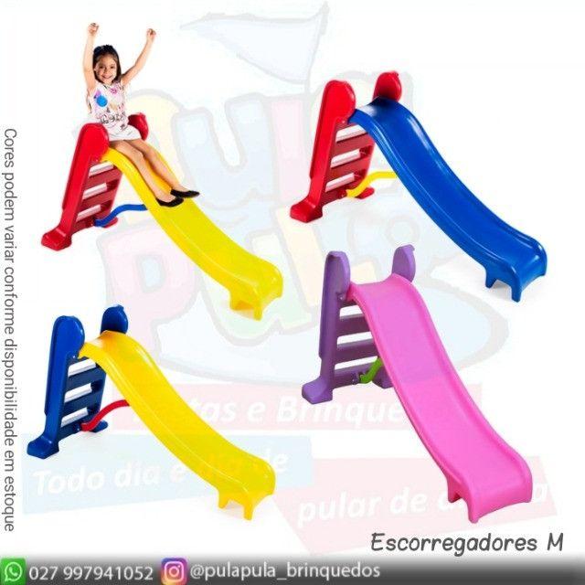 Promoção - Escorregadores coloridos para sua área Kids