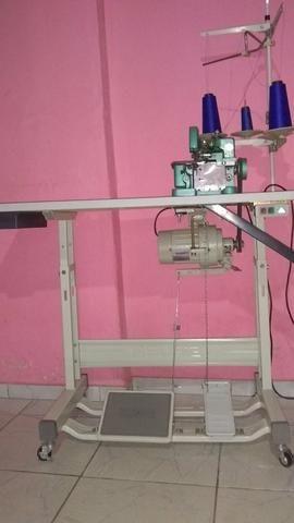 Máquina de costura semi industrial ovelock e reta Zig zag 38 costuras - Foto 4