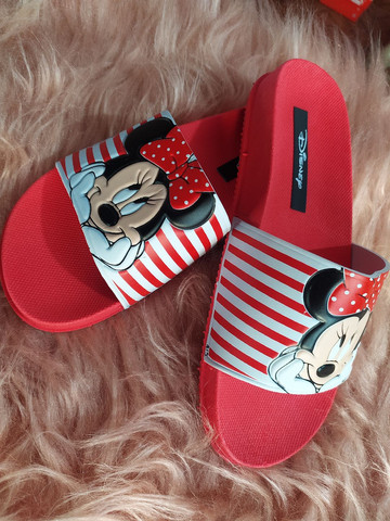 Chinelo slide Minnie e Mickey - Foto 2