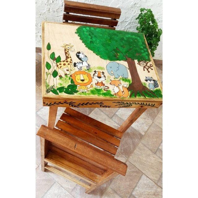 Mesinha infantil de madeira - Foto 2