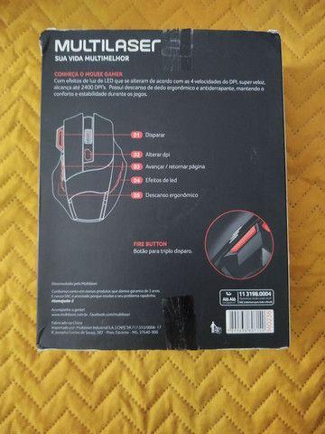 Mouse gamer com leds e DPI 2400 - Foto 5