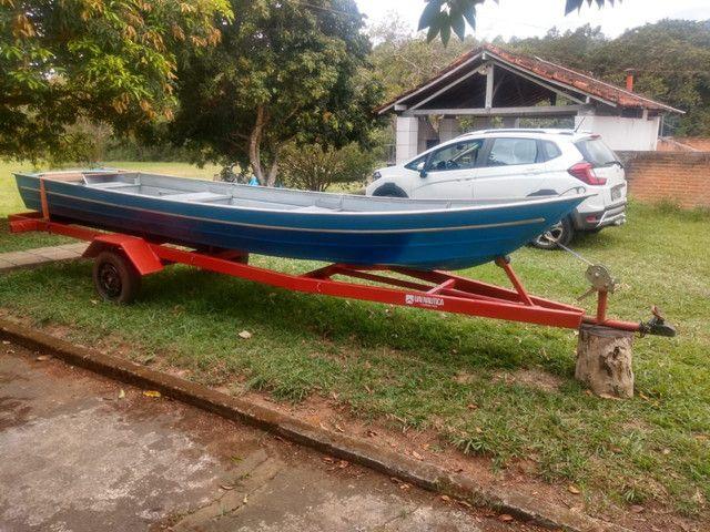 Vendo barco alumínio com carreta ok  - Foto 3