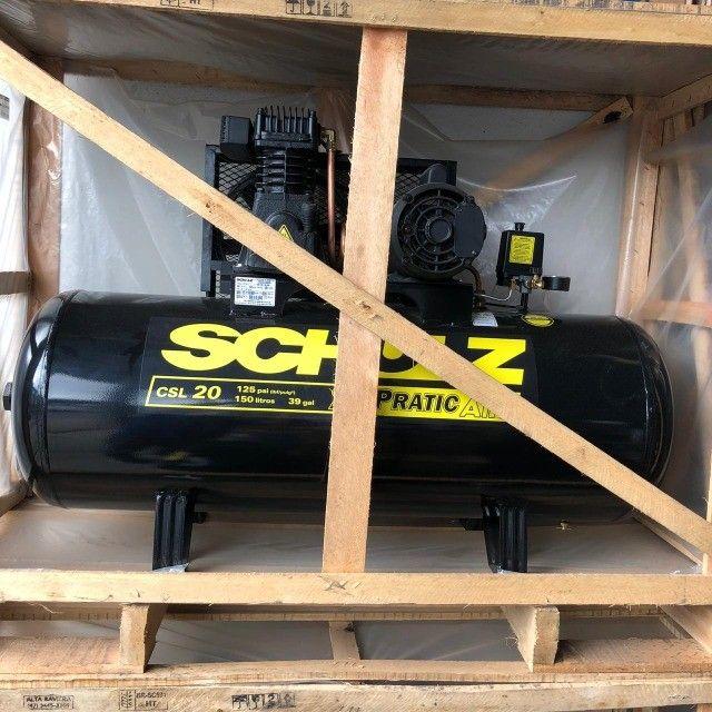 Compressor de Ar Pratic Air CSL 20/150 Monofásico - Schulz - Foto 2