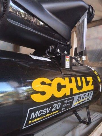 Compressor De Ar Schulz Audaz MCSV 20 Pés 200 Litros 5CV - Trifásico 220/380V - Foto 3