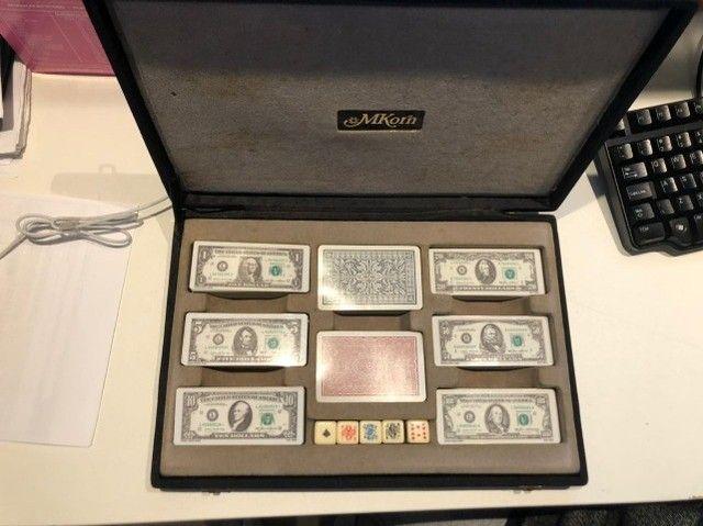 Fichario Para Poker Exclusivo - Fichas Em Forma De Dollar - Foto 2