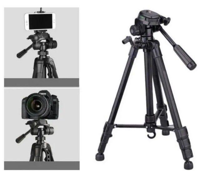 Tripé 1,80m Profissional c/ Bolsa Foto E Video Universal 3kg De Carga - Foto 5