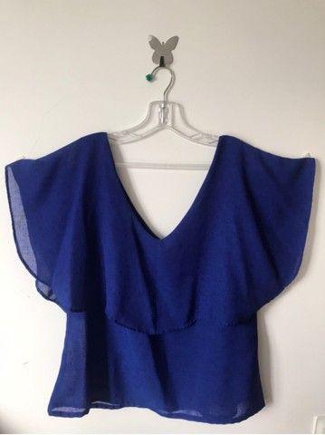 Blusa azul royal