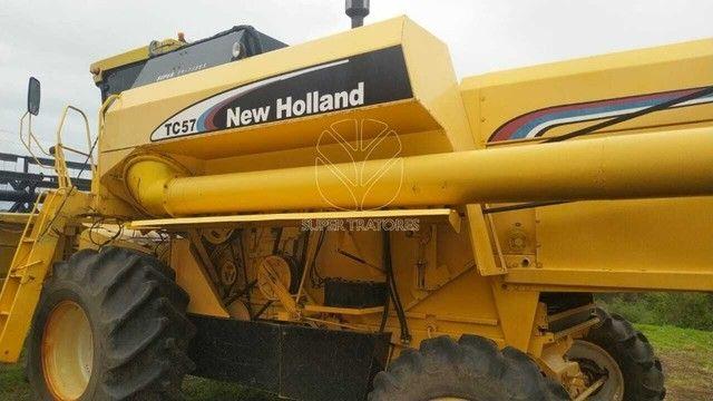 Colheitadeira New Holland TC57 Arrozeira Ano 2004. - Foto 6