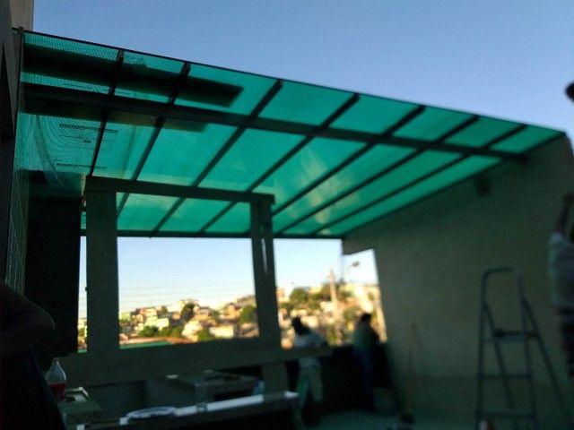 Pergolados-policarbonatos-toldos para janelas-portas de ACM! - Foto 2