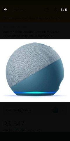 """Alexa Echo Dot 4ª Ger.<br>""""Twilight Azul"""" Produto Original. 3x S/Juros.<br>A Vista 10% - Foto 2"""