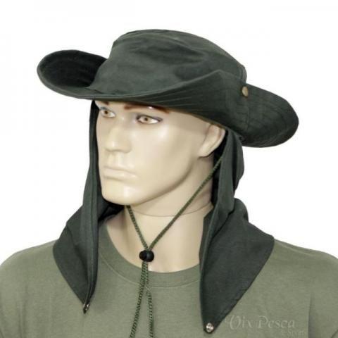 Chapéu de Pano com protetor Camuflado ou Cores Lisas - Foto 3