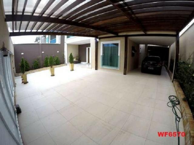 Casa duplex, 3 suítes, 5 vagas, projetada, mobiliada, casa nova, lago Jacarey - Foto 15