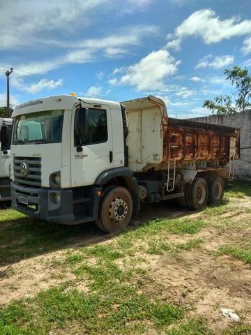 Caminhão Caçamba Volks 24.280, Apenas 22Mil KM Rodado em Estado de Novo