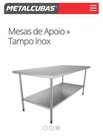 Mesas para Panificação inox / toda inox ou mista - a partir de r$ 859,00 - Foto 3